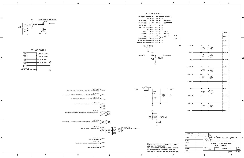 mackie profx8 main schematics service manual (1st page)