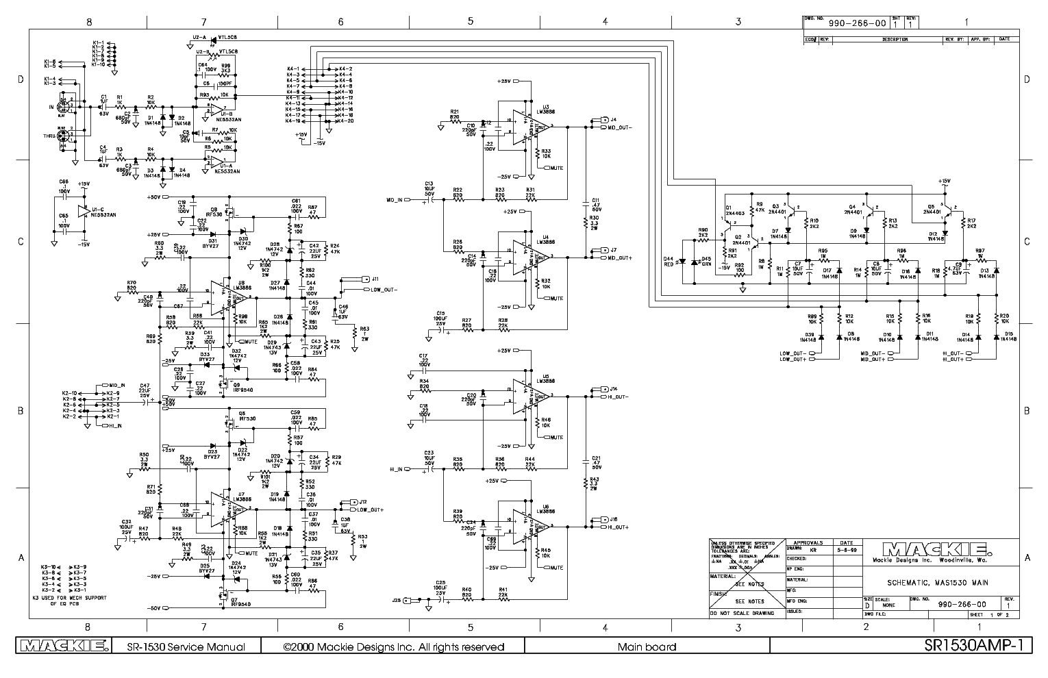 mackie sr1530 active speaker service manual free schematics eeprom repair info for