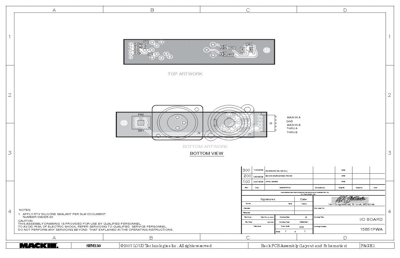 Mackie Srm 150 2x75w Class D Amp Pwa 2007 Sm Service Manual Download Amplifier Circuit 1st