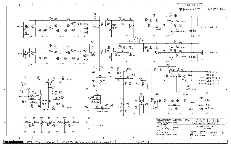 Mackie Swa1501 Swa1801 Inputboard Sch Service Manual