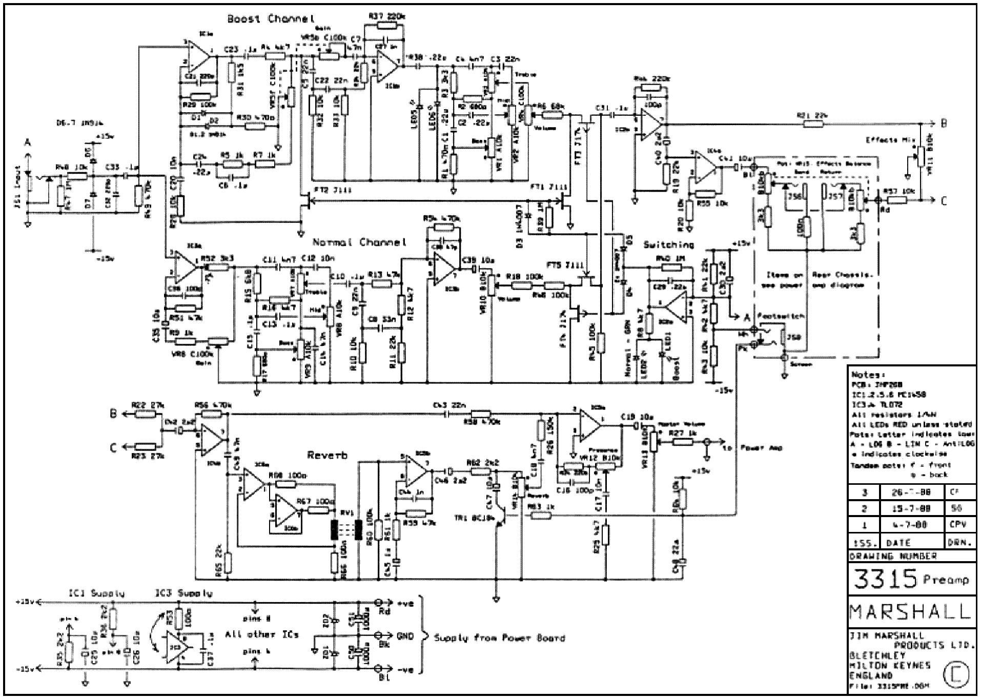 marshall jtm60 sch service manual download  schematics