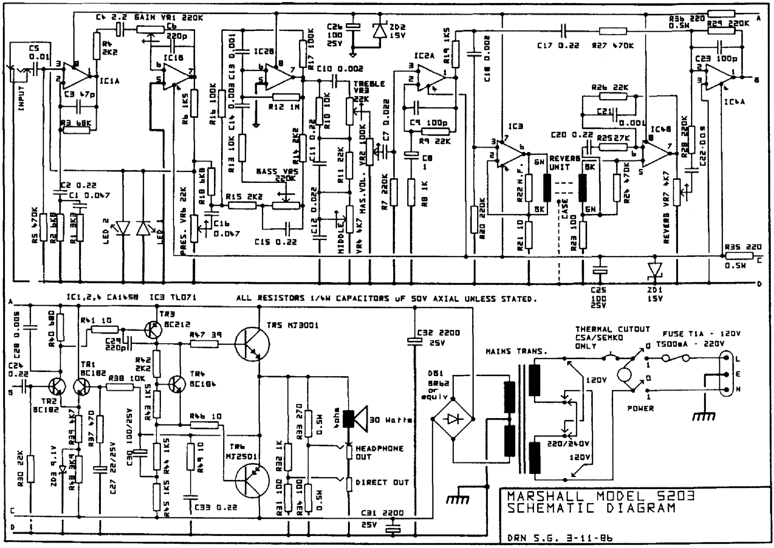 marshall stanmore wiring diagram