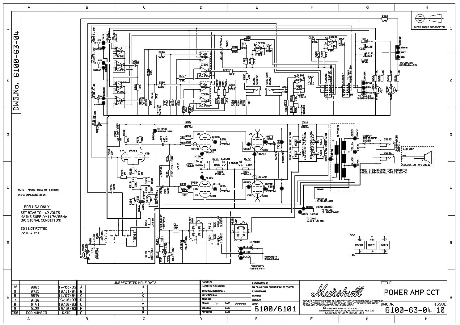 marshall 2203 reissue sch service manual download schematics rh elektrotanya com marshall 6100 lm review Marshall 1960B Lead 4X12