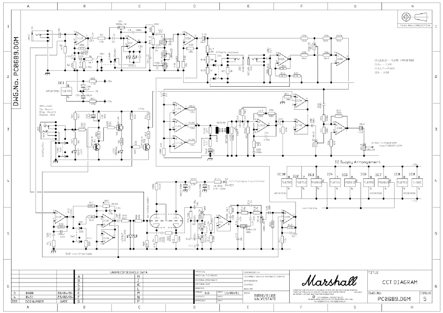 Marshall 8080 8100 Valvestate Pc0689 Sch Service Manual