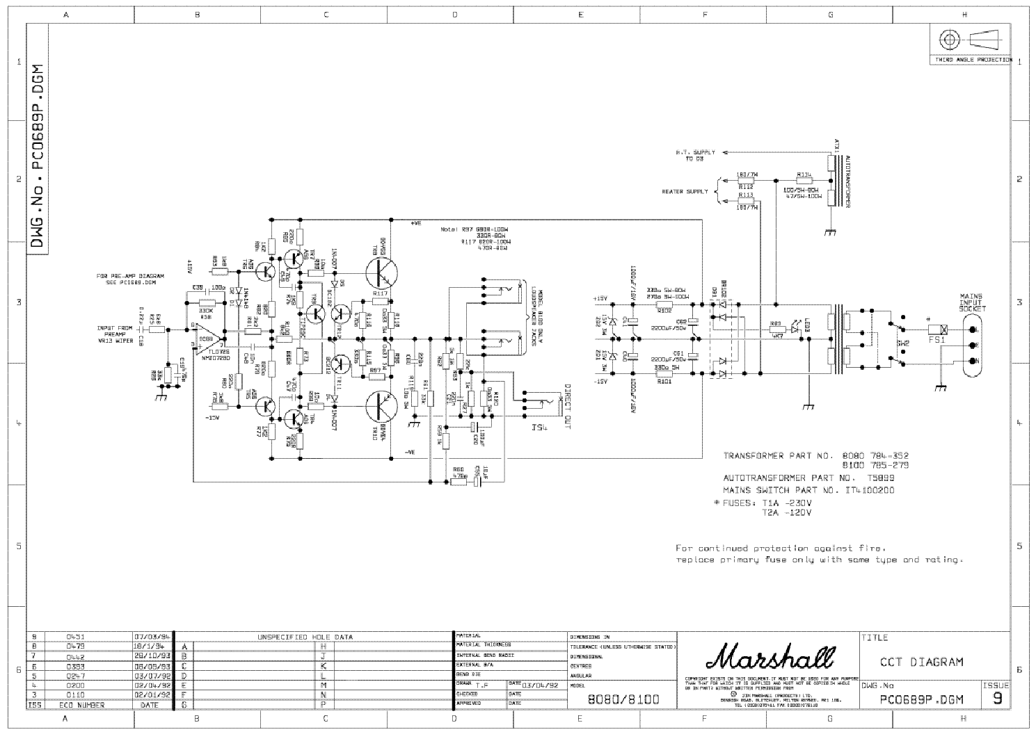 MARSHALL 8080 8100 VALVESTATE PC0689 SCH Service Manual ... on circuit diagram, marshall tsl 100 first design, marshall jcm 900 layout, tube map, functional flow block diagram, technical drawing, marshall parts list, one-line diagram, piping and instrumentation diagram, block diagram, marshall jcm pre amp, marshall plexi tubes,