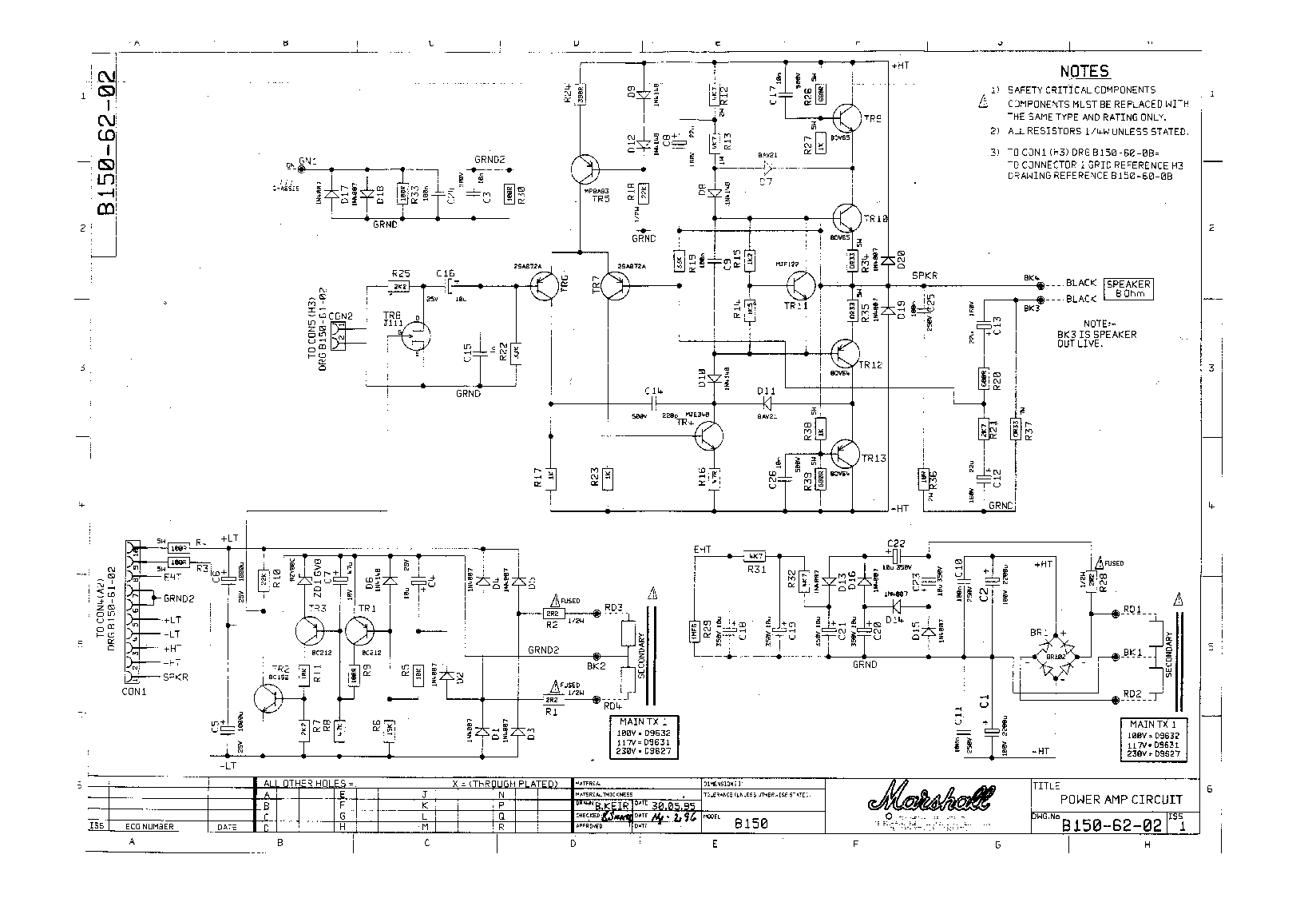 MARSHALL MG100DFX SCH Service Manual download, schematics ... on marshall avt150h head, marshall avt50h, marshall avt150 valvestate 2000,