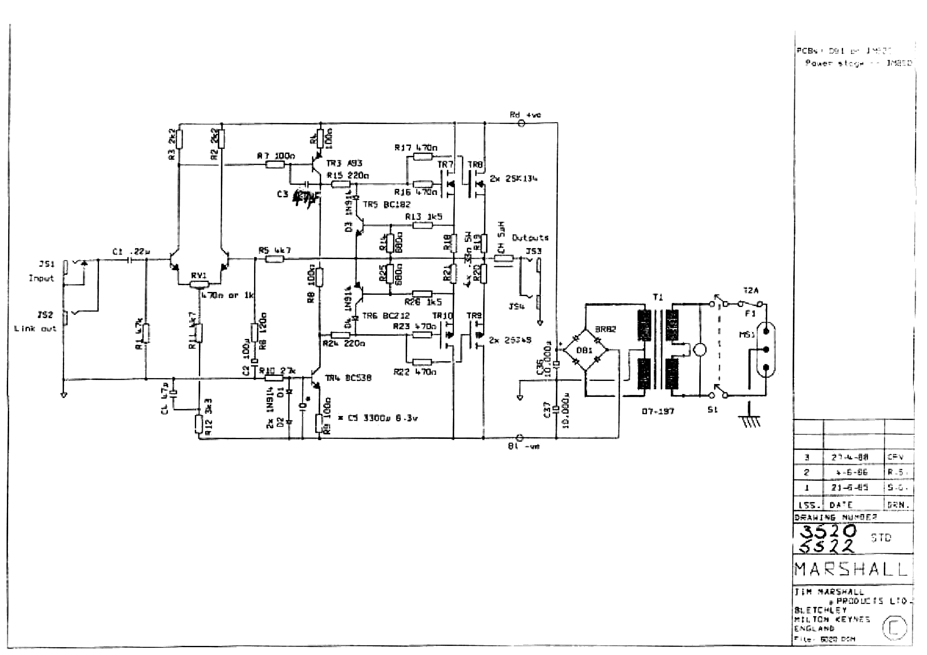 Schematic Audio Amplifier Circuit 200w