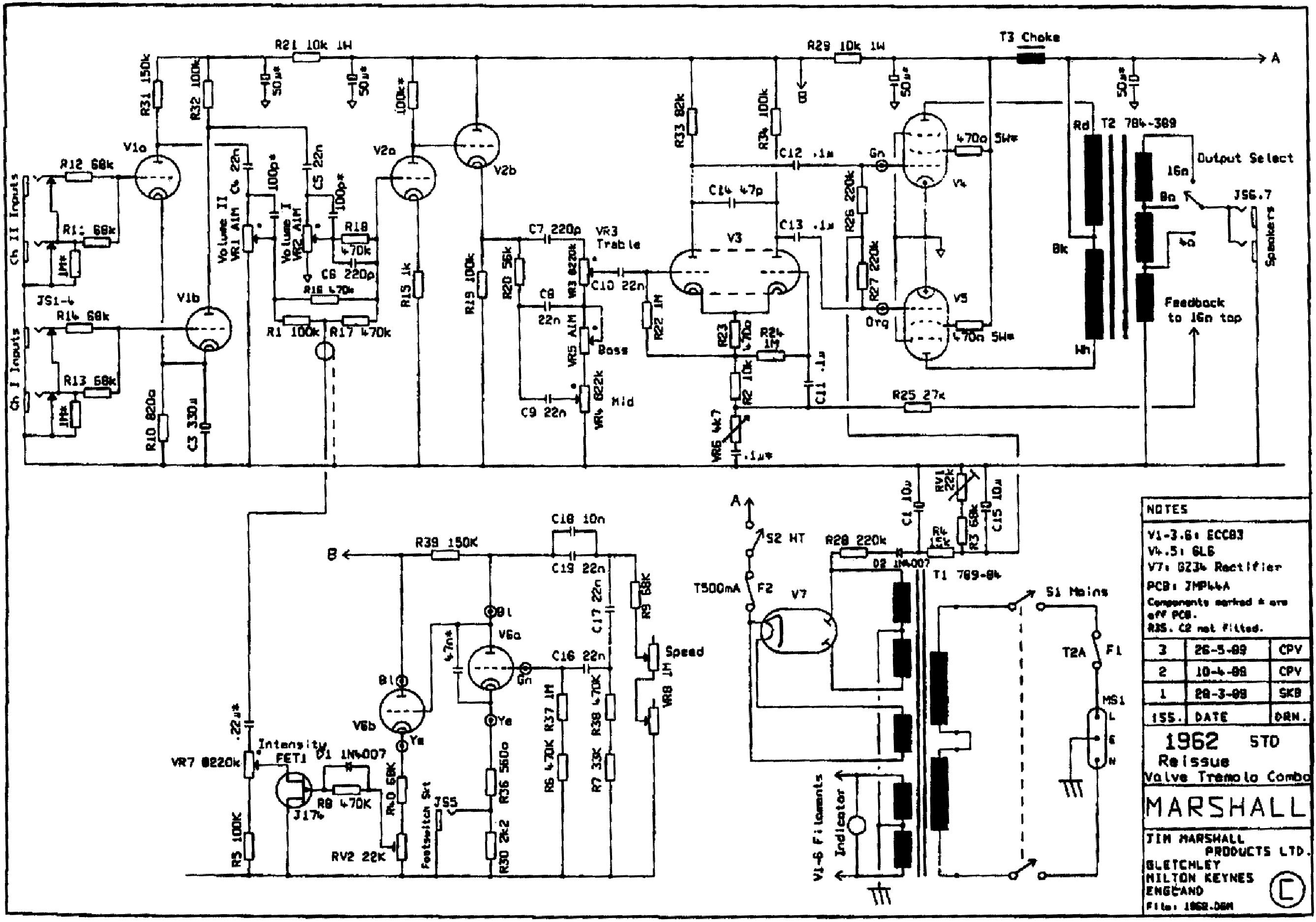 marshall bluesbreaker reissue 45w 1962 service manual
