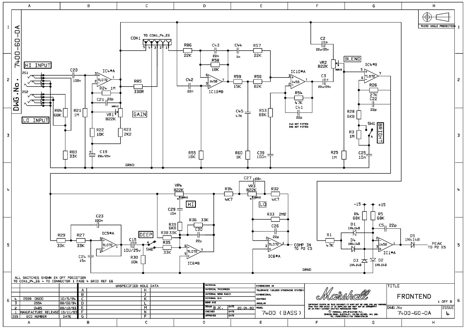 MARSHALL DBS 400W 7400 service manual (1st page)