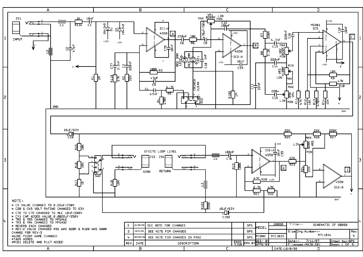 Marshall Vs65r 65w Service Manual Download  Schematics