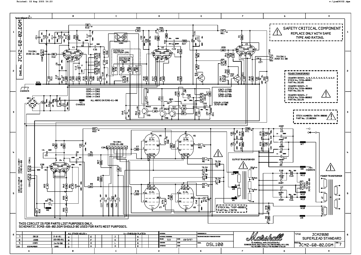 Marshall Jvm410 Service Manual Free Download  Schematics