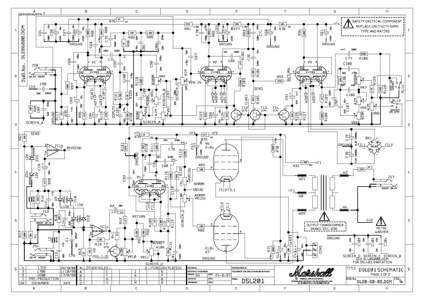 marshall tsl wiring schematic marshall wiring diagram free
