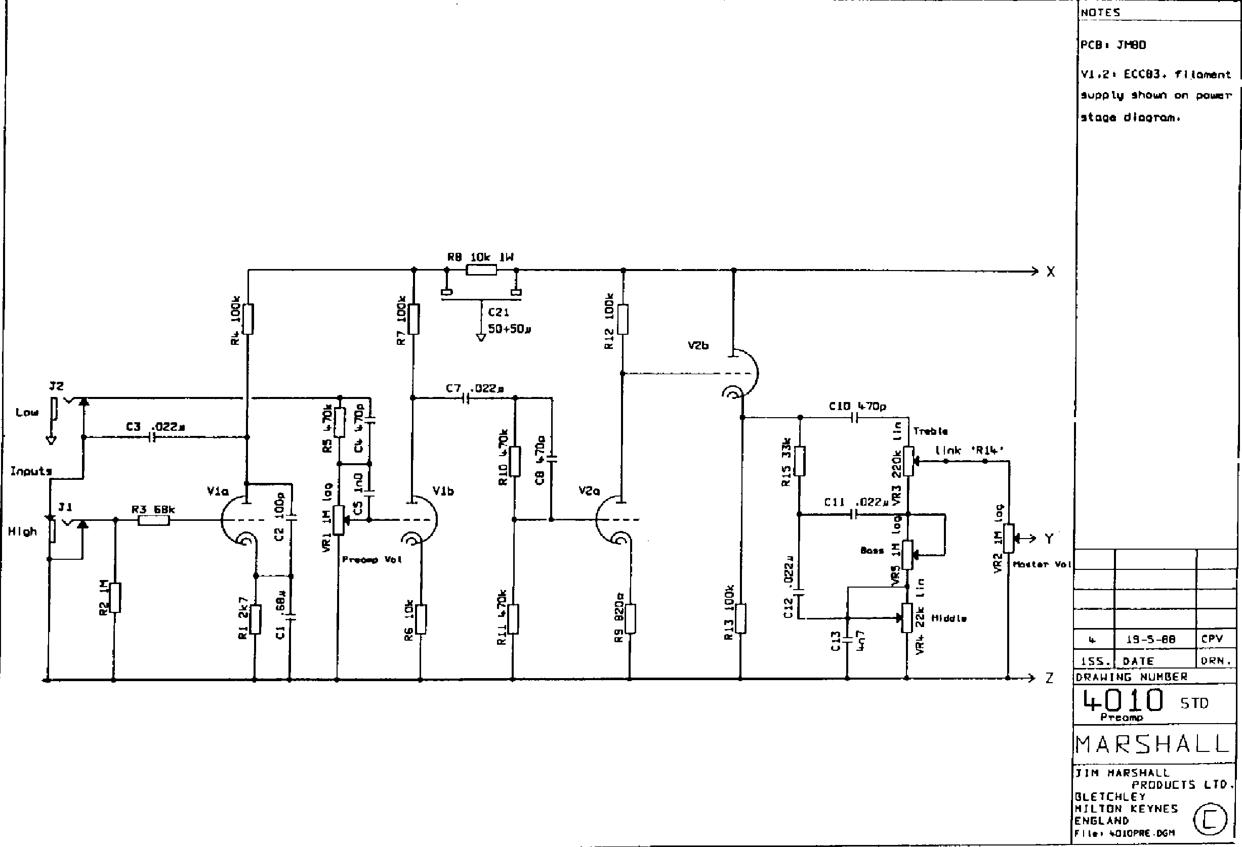 marshall 2204 wiring diagram   28 wiring diagram images