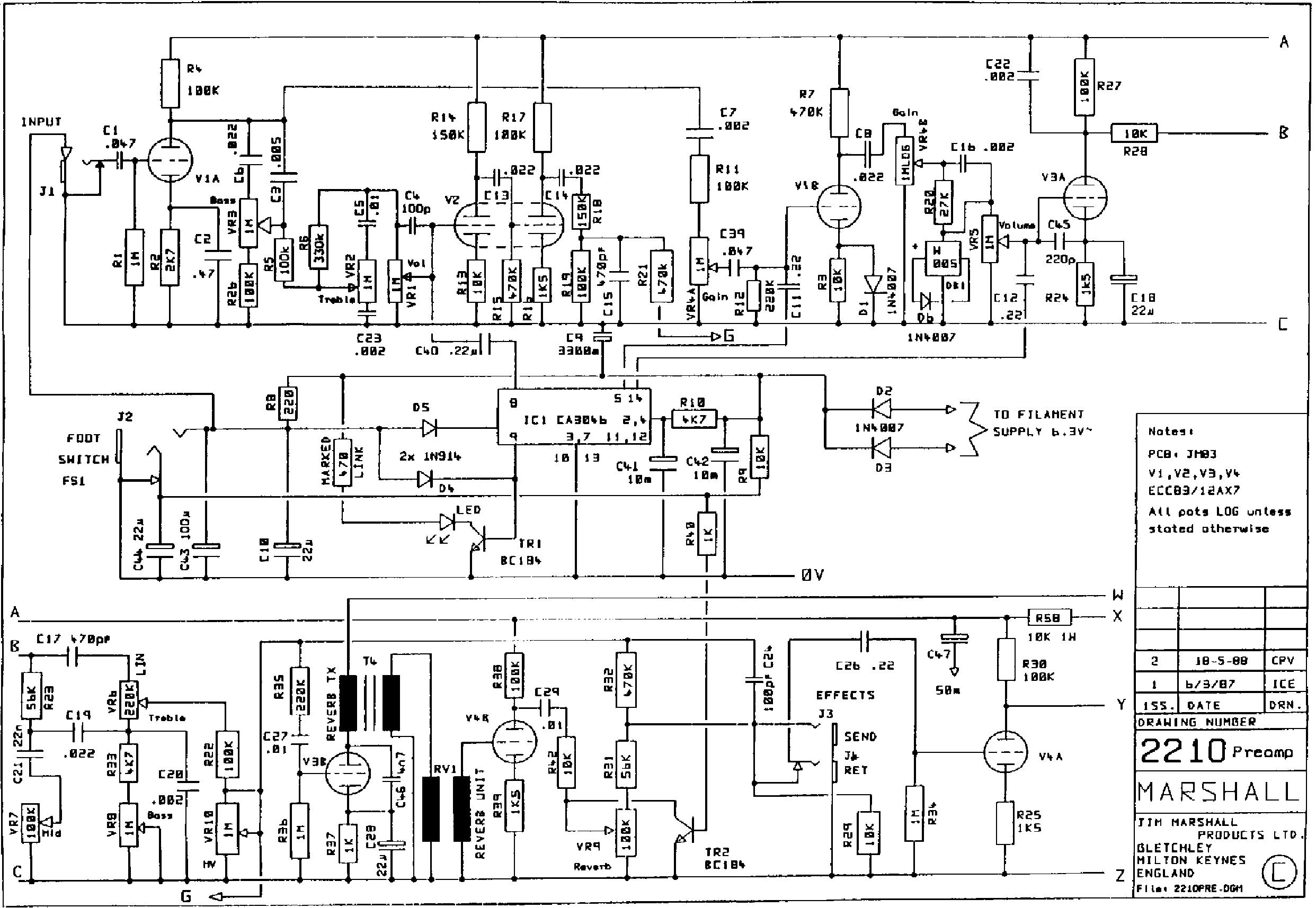 100 Watt Marshall Schematic