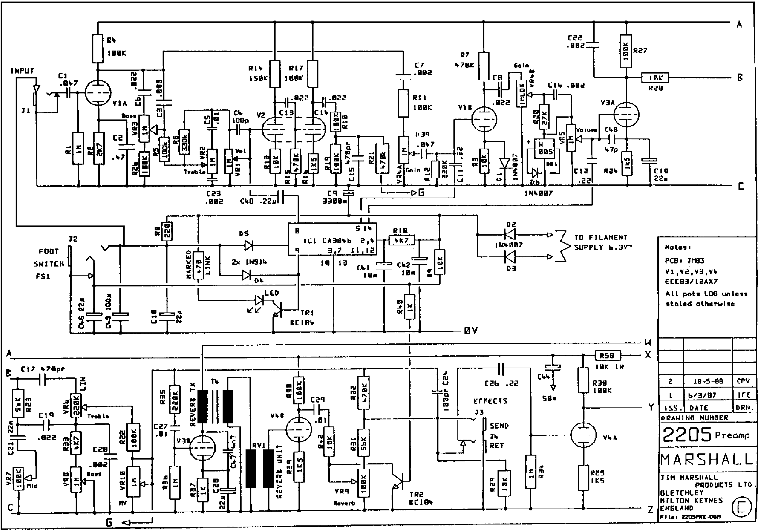 MARSHALL JCM800 SPLITCH 50W 2205 Service Manual download, schematics on slo-100 schematic, bass tube preamp schematic, circuit diagram, jtm45 schematic, bassman schematic, marshall schematic, block diagram, 1987x schematic, functional flow block diagram, zvex sho schematic, 3pdt schematic, amp schematic, jcm 900 schematic, soldano schematic, ac30 schematic, irig schematic, overdrive schematic, technical drawing, transformer schematic, fender schematic, peavey schematic, piping and instrumentation diagram, tube map, 5e3 schematic, dsl schematic, one-line diagram, guitar schematic,
