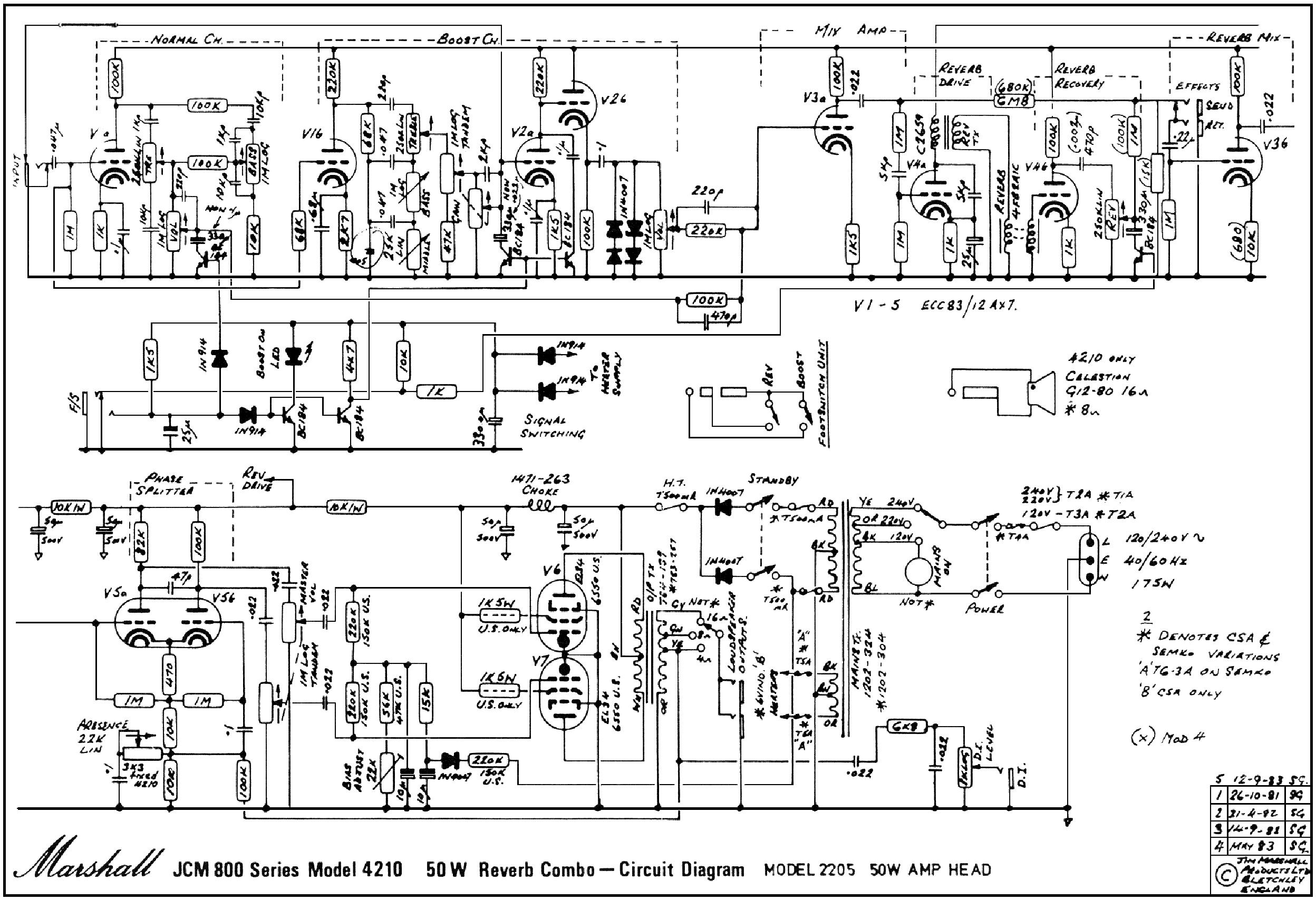 marshall jcm800 splitch rev 50w 4210 service manual