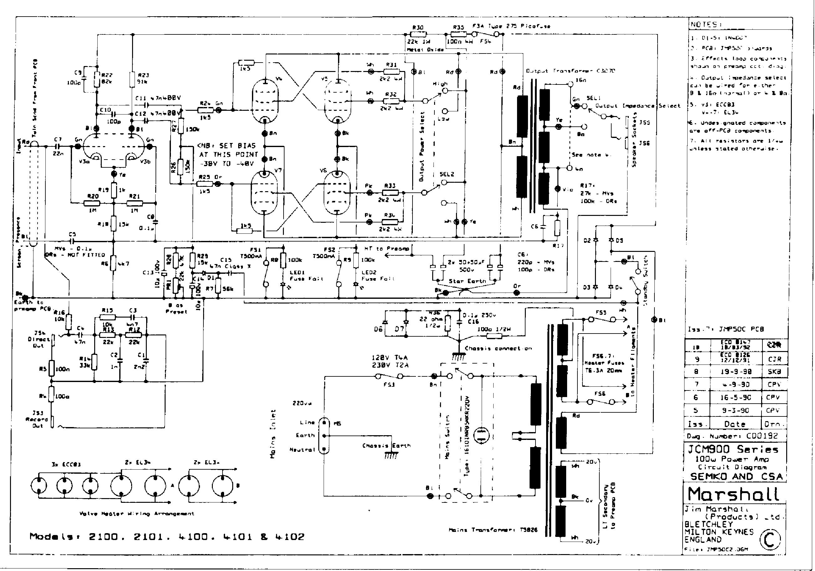 marshall jcm900 100w