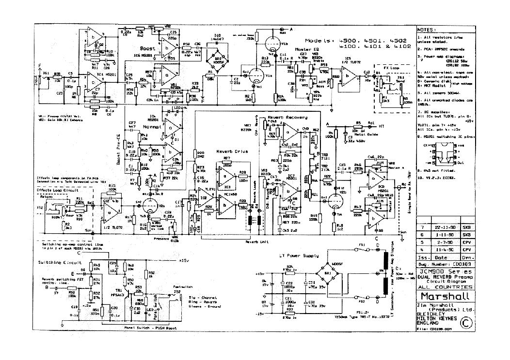 todo marshall jcm900 dual reverb schematic