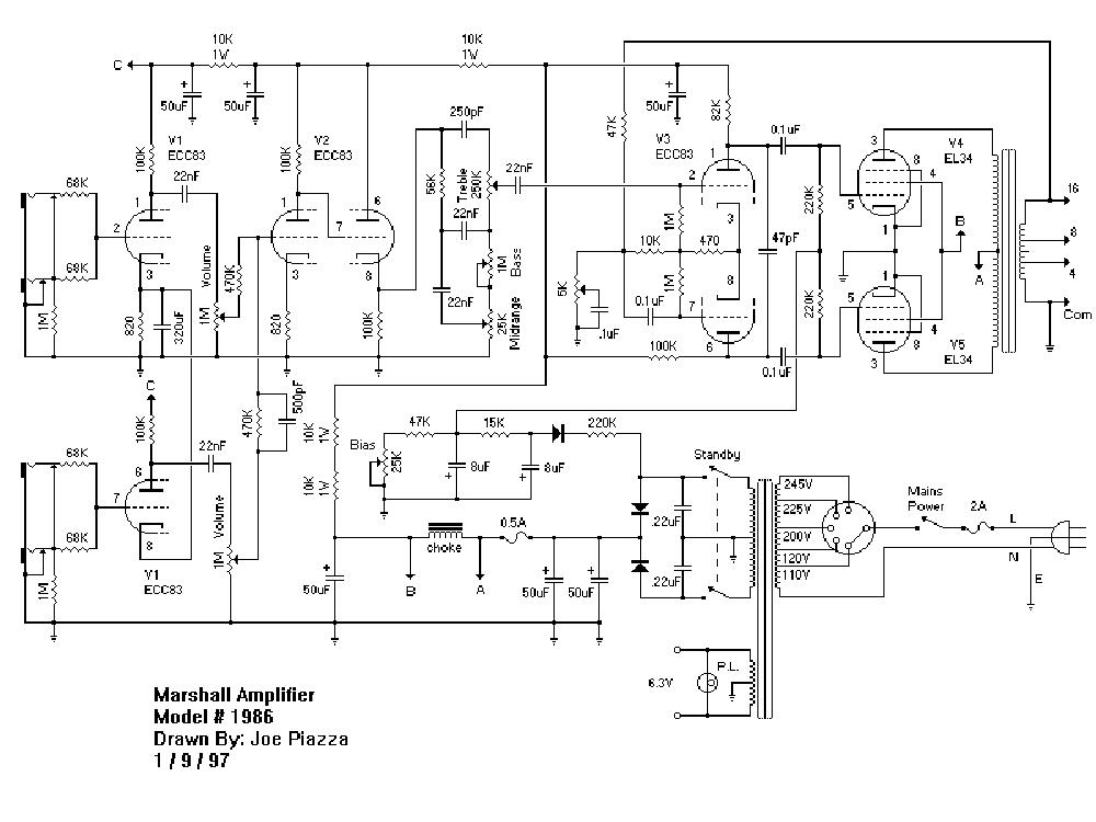 marshall jcm800 splitch 100w 2210 service manual free download  schematics  eeprom  repair info
