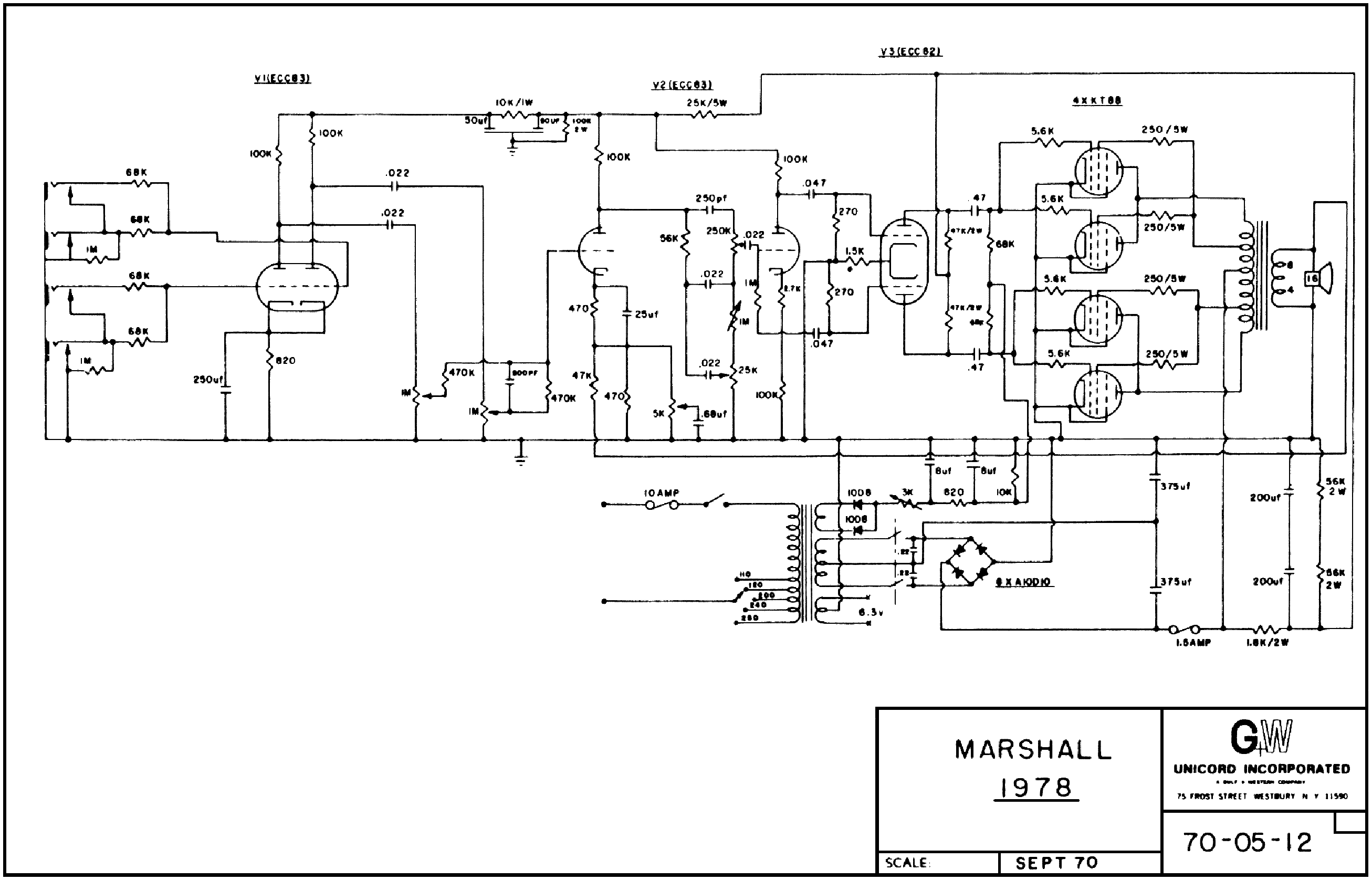 Marshall Major 1978u Bass 200w Sch Service Manual Download