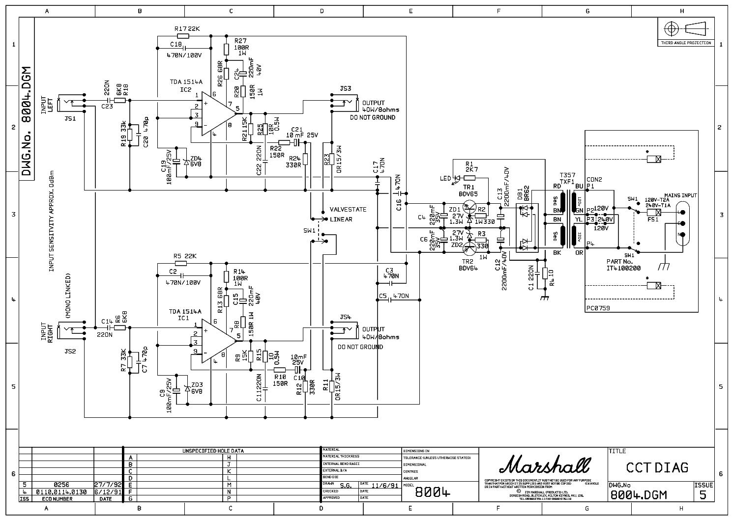 Marshall Rackmount 2x40w 8004 Service Manual Download