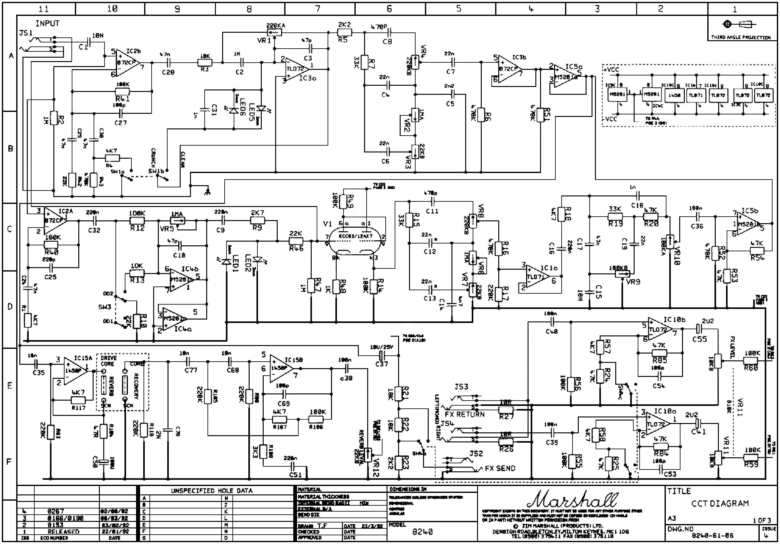 Marshall Stereochorusrev 2x40w 8240 Service Manual