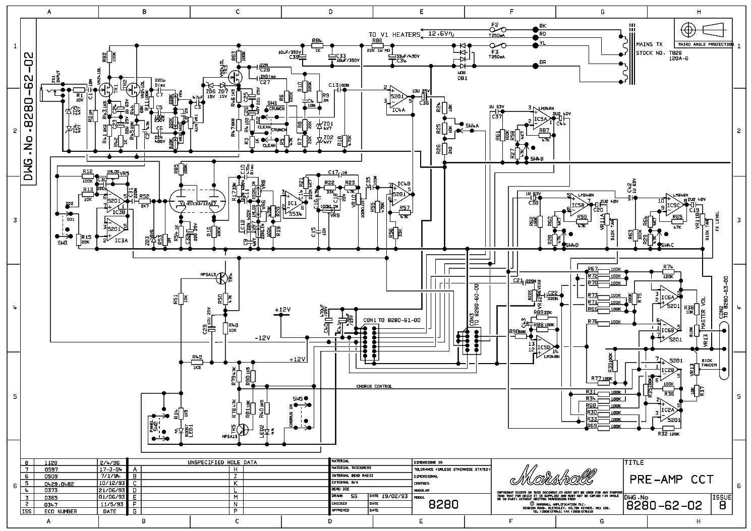 marshall stereochorusrev 2x80w 8280 service manual