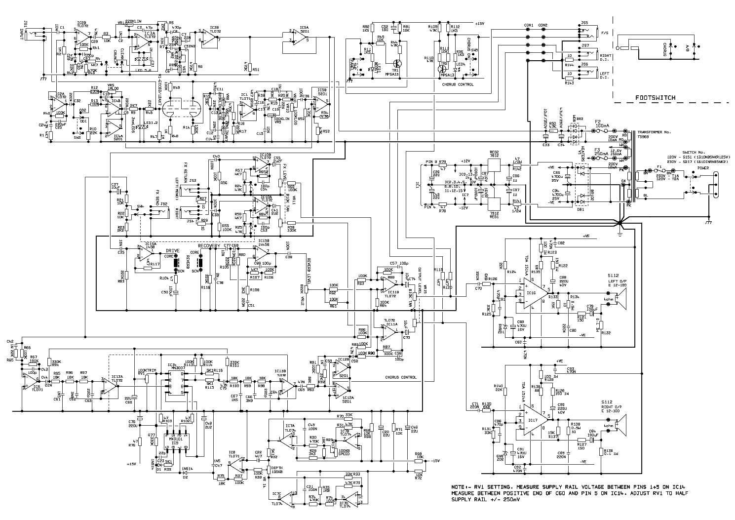 Marshall Valvestate Vs100 Circuit Diagram Circuit Diagram