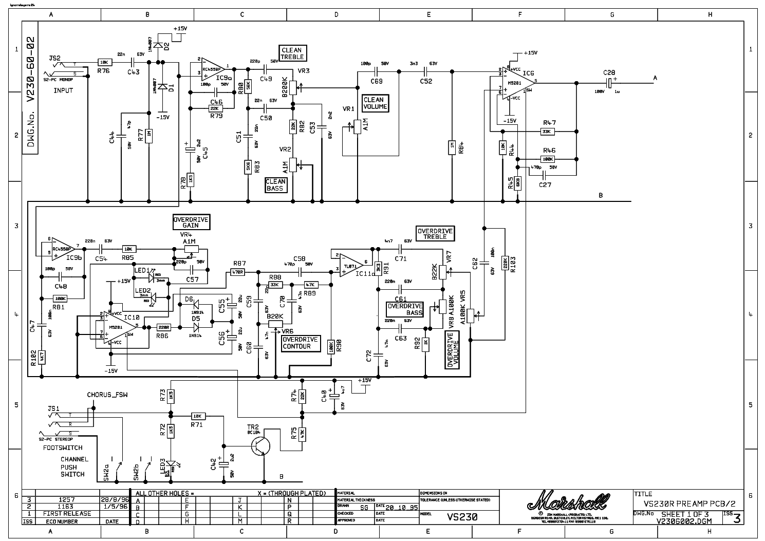 Marshall G15rcd Service Manual Free Download  Schematics