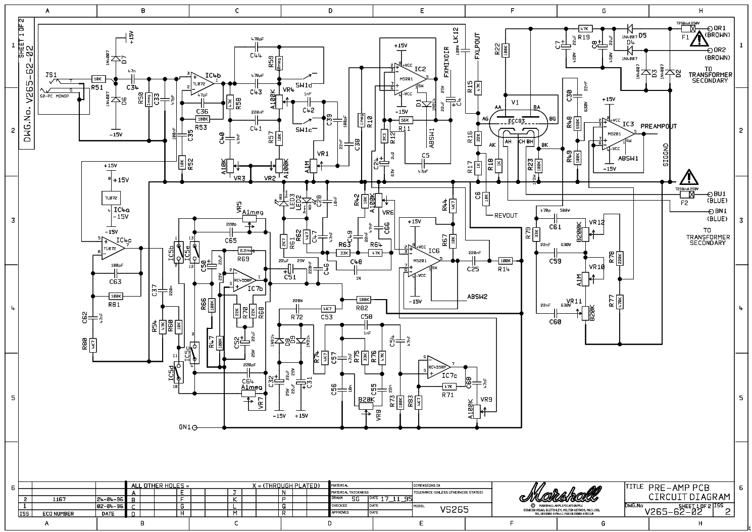 marshall slp reissue 100w 1959 service manual download  schematics  eeprom  repair info for