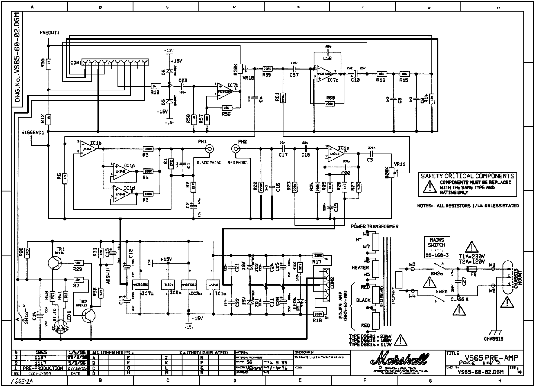 Marshall Vs65r 65w Service Manual Download  Schematics