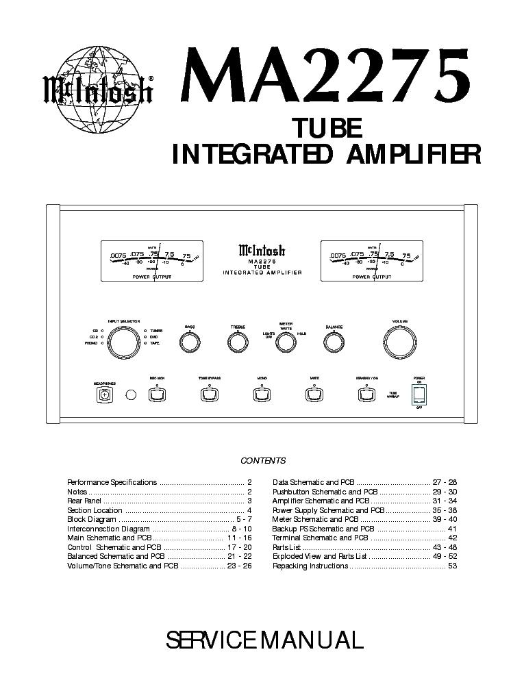 Mcintosh Mr80 Sm Service Manual Free Download  Schematics