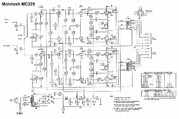 Mcintosh Mc225 Sch 1 Service Manual Download  Schematics