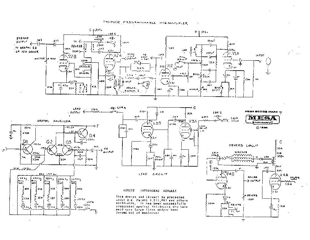 Mesa/Boogie Mark III Operating Instructions Manual