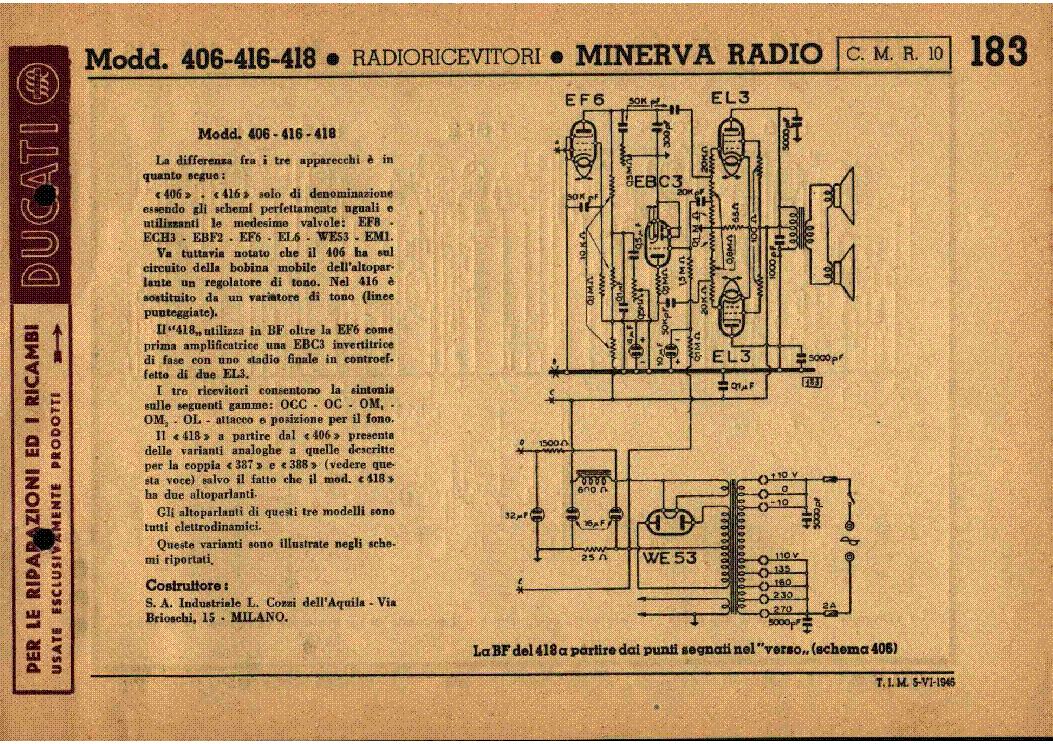 Schemi Elettrici Industriali Pdf : Minerva 466 1 am radio receiver sch service manual download