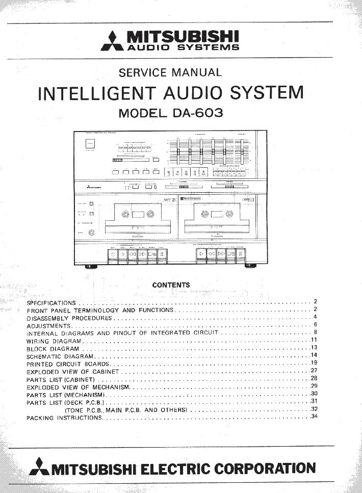 mitsubishi da 603 sch service manual download schematics eeprom rh elektrotanya com Mitsubishi Eclipse Spyder Mitsubishi Lancer Automatic or Manual