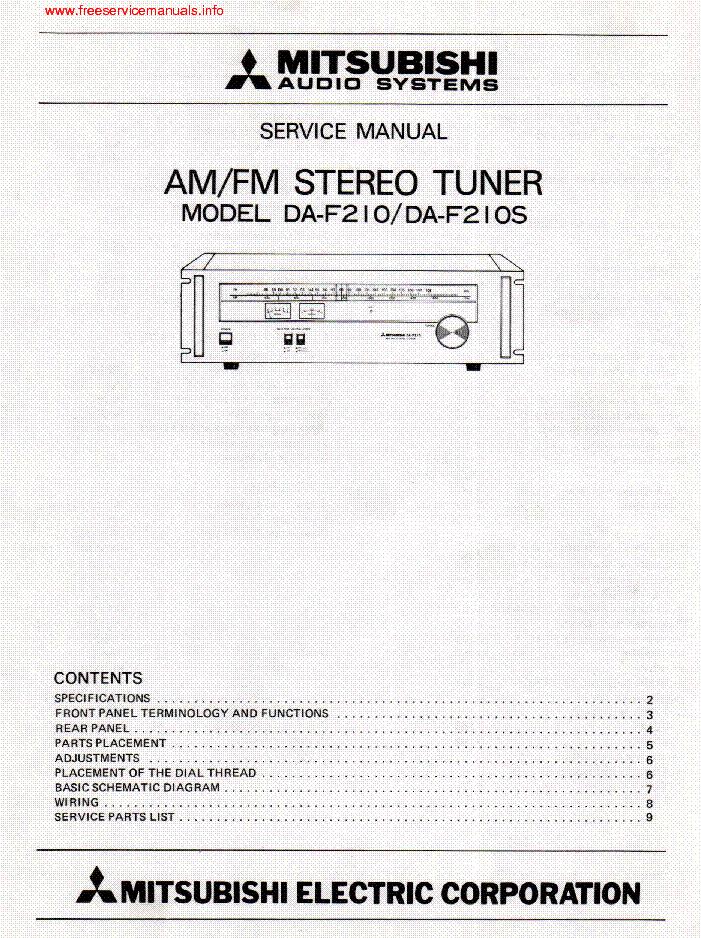 mitsubishi da f20 schematic wiring block diagram John Deere Schematics mitsubishi daf 10 am fm stereo tuner sm service manual download mitsubishi da f20 schematic
