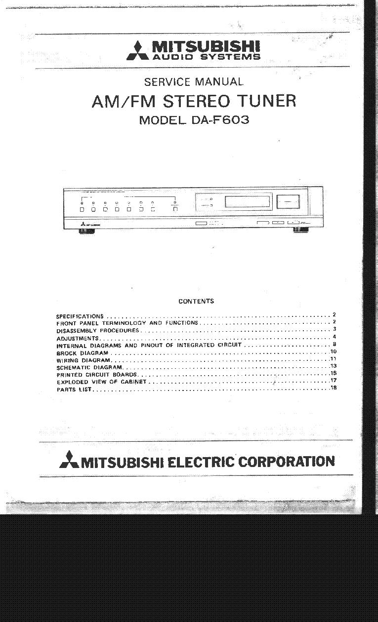 Mitsubishi Da U200 U300 Sm Service Manual Download Schematics Wiring Diagram Pdf