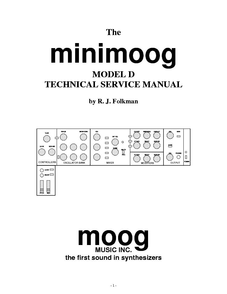 MOOG PRODIGY SCH Service Manual download, schematics, eeprom, repair