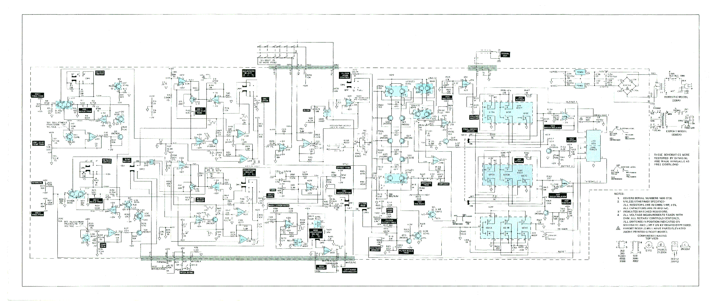 MOOG PRODIGY SCH Service Manual download, schematics, eeprom