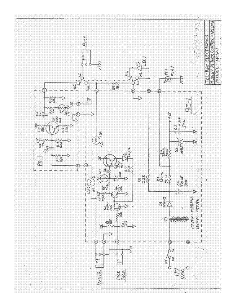 Morley Attack Control Volume Acv Circuit Diagram Sch Service Manual