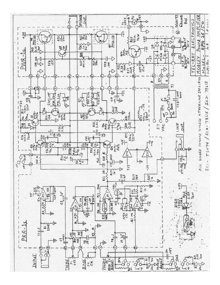 Morley Bpa 2550 Big Foot Power Amp Schematic Diagram Sch Service