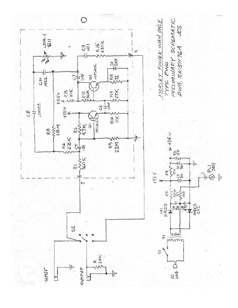 Morley Pwov Power Wah Volume Sch Service Manual Download  Schematics  Eeprom  Repair Info For