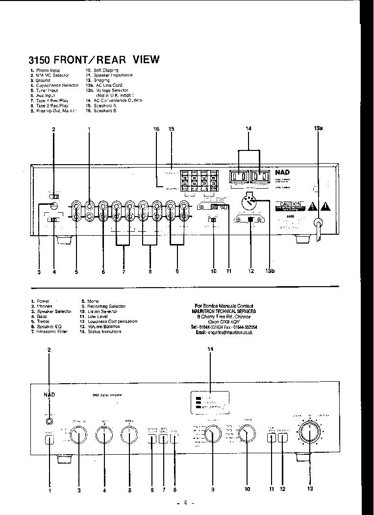 NAD 2150 3150 4150 7150 SM Service Manual download, schematics