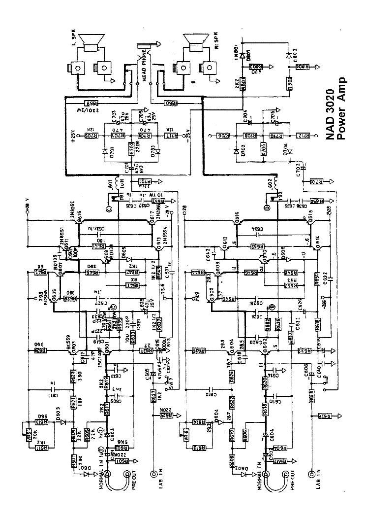 NAD 3020 SCH 2 Service Manual download, schematics, eeprom, repair Nad Schematic on