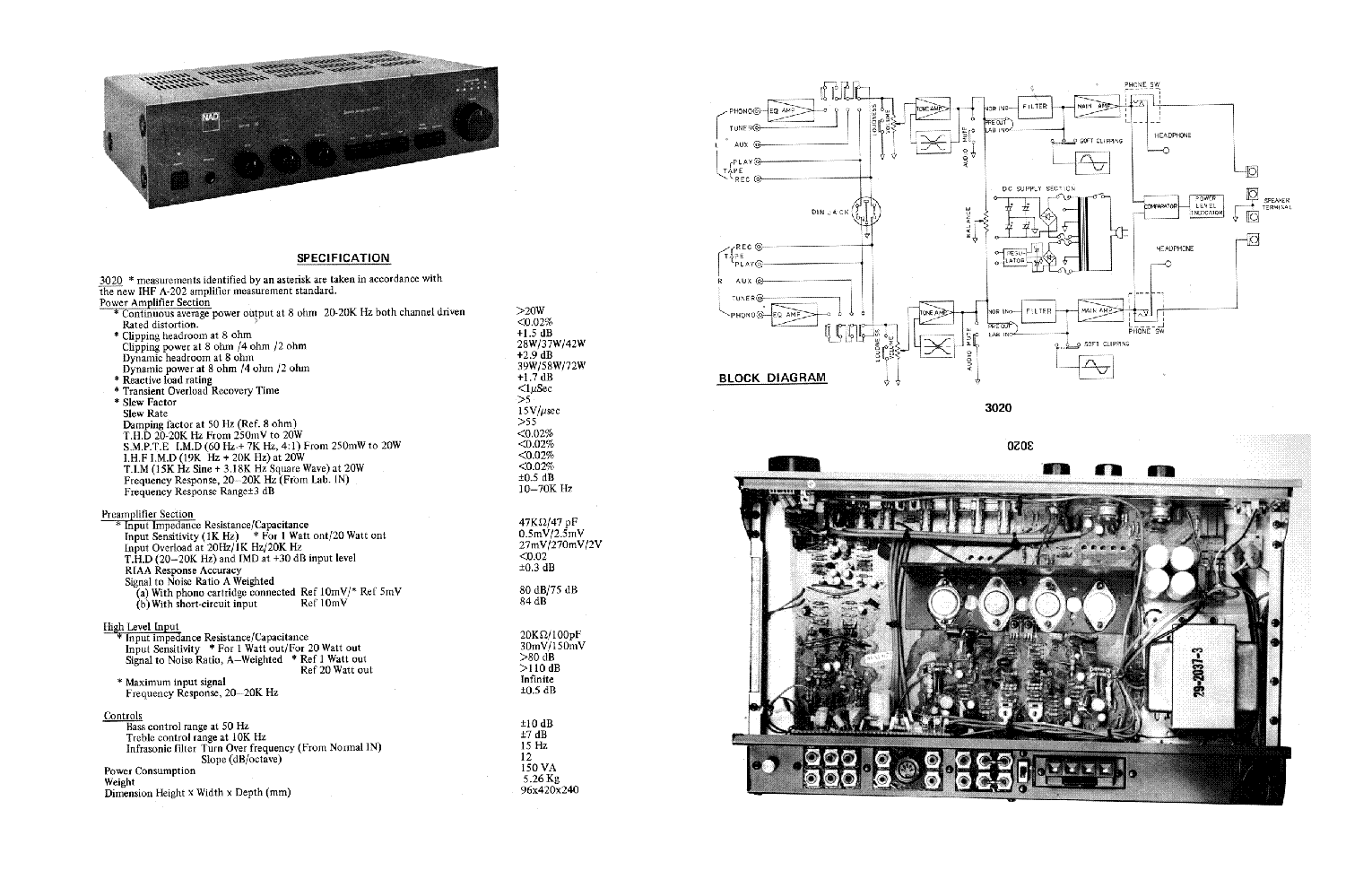 NAD 3020 SM Service Manual 1st Page