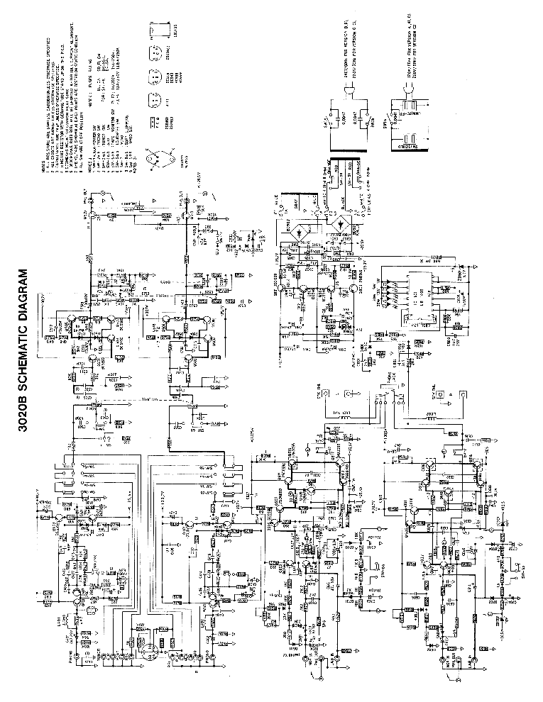 nad 3020 circuit diagram
