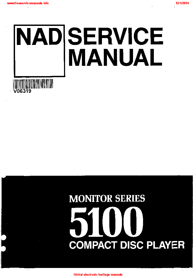NAD 5100 SM service manual (1st page)