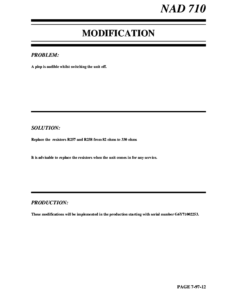 NAD T773 SM 3 Service Manual download, schematics, eeprom