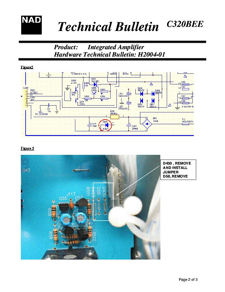 NAD C320BEE H2004-01 BULLETIN Service Manual download, schematics